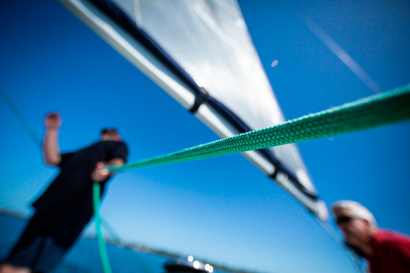 Foto de los cursos de Vela en Arousa Norte