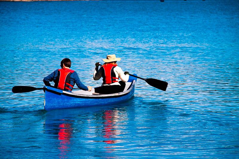 Foto de la ruta en canoa